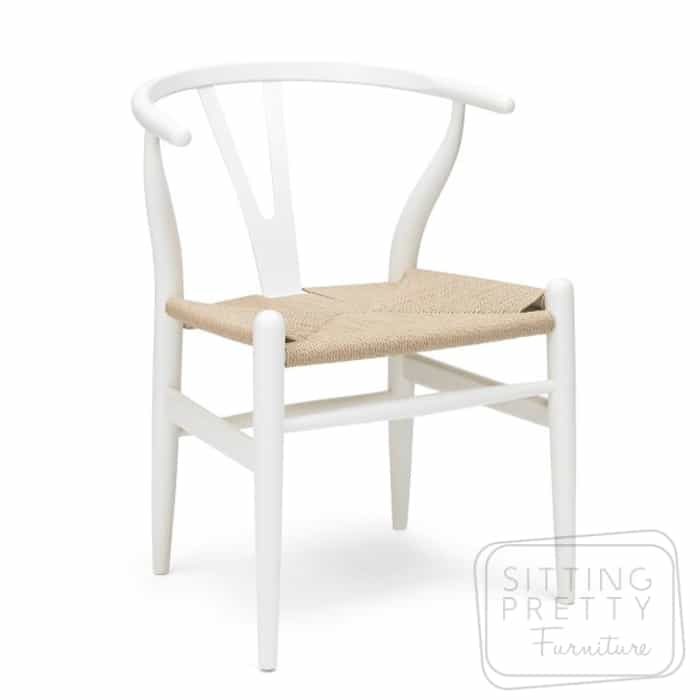 Replica Hans Wegner Wishbone Chair – White – DUE EARLY JAN