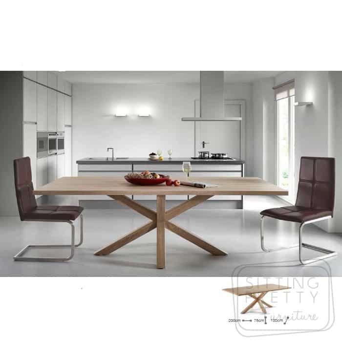 Arya Table - Natural top & legs - 200cm
