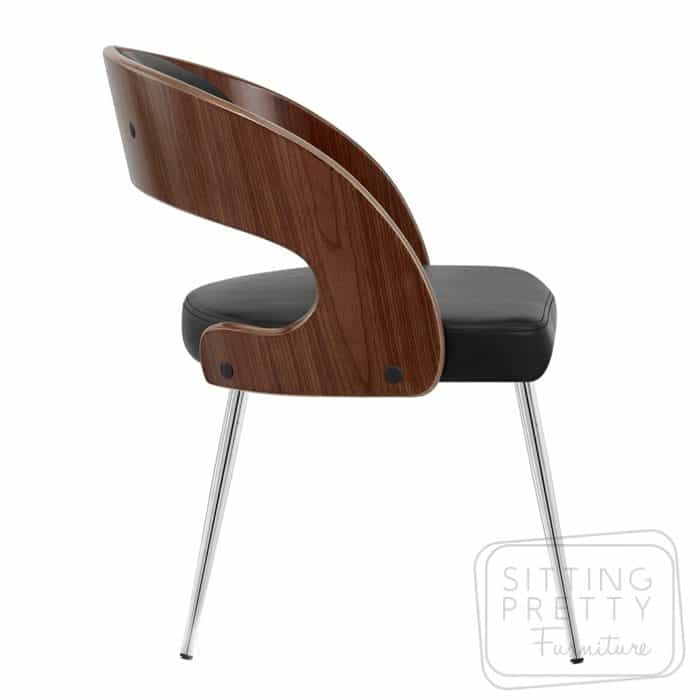 Gatsby Dining Chair - Walnut/Black - DUE LATE MARCH