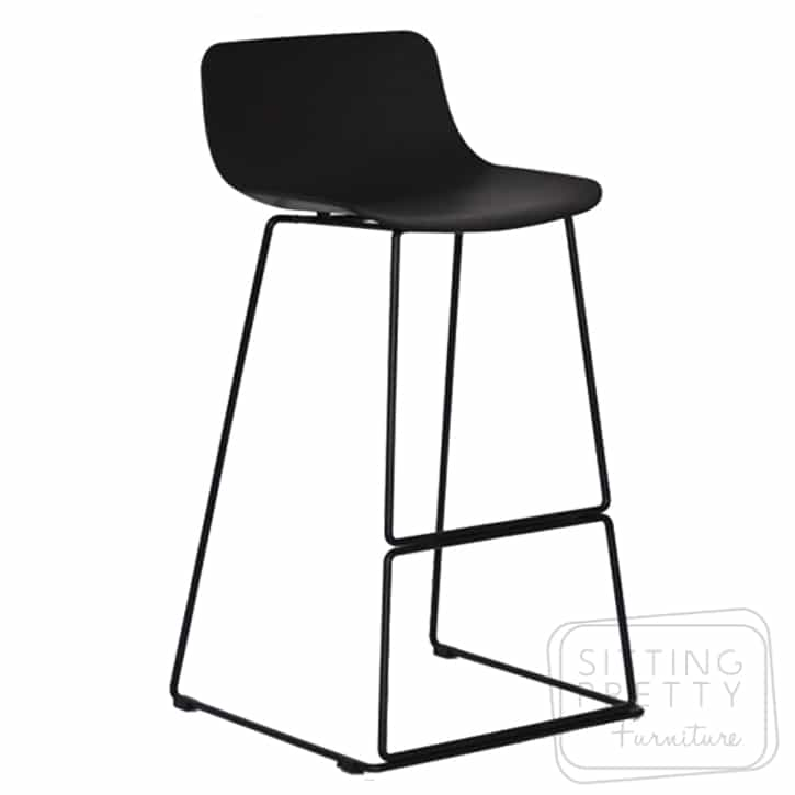 Luxe Counter Stool 67cm – Black/Black