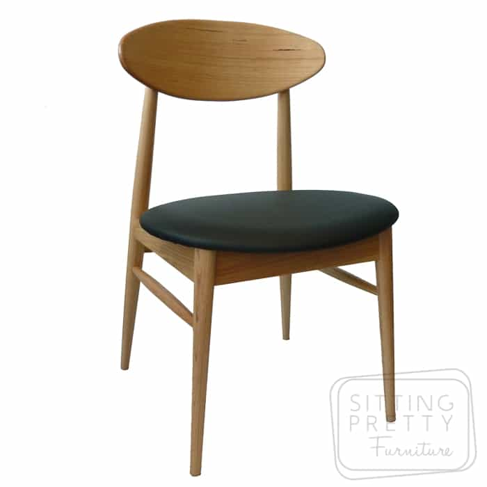 Verve Vic Ash chair with black PU seat