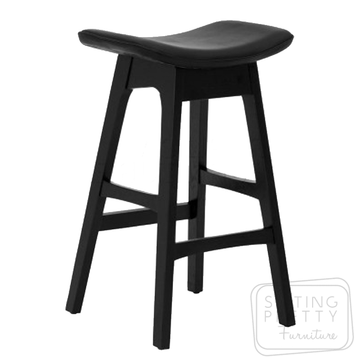 Replica Johannes Andersen Allegra Stool – All Black