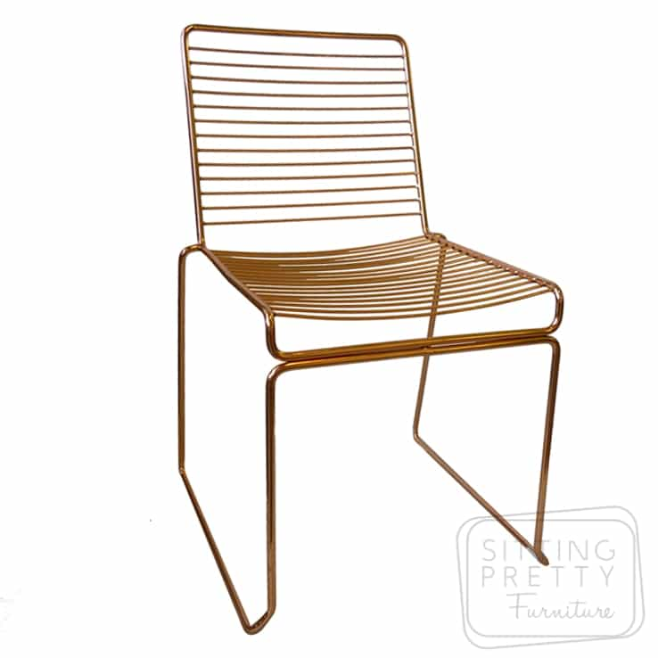 Helix Wire Chair – Copper Plated – SIX LEFT