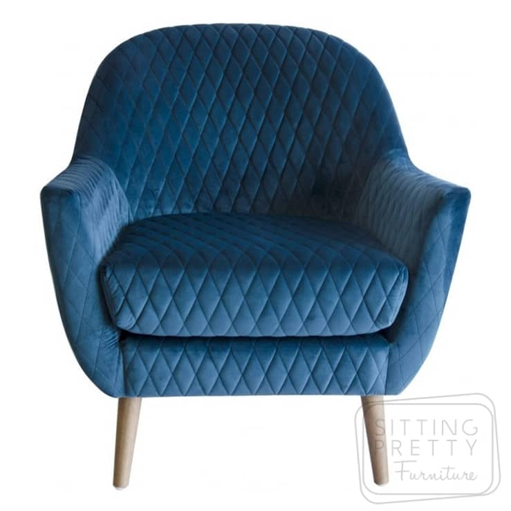 Roxy Velvet Chair – Blue