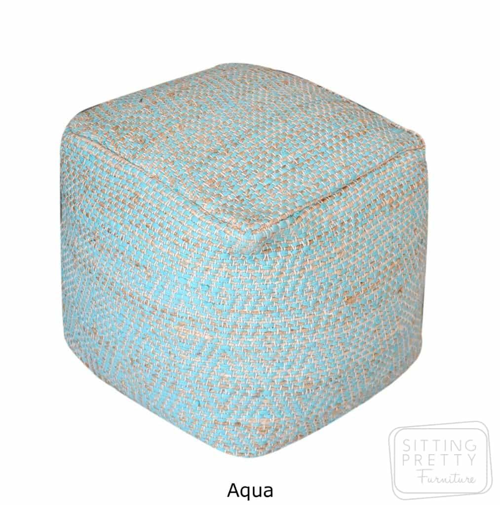 Abella Pouffe – Aqua