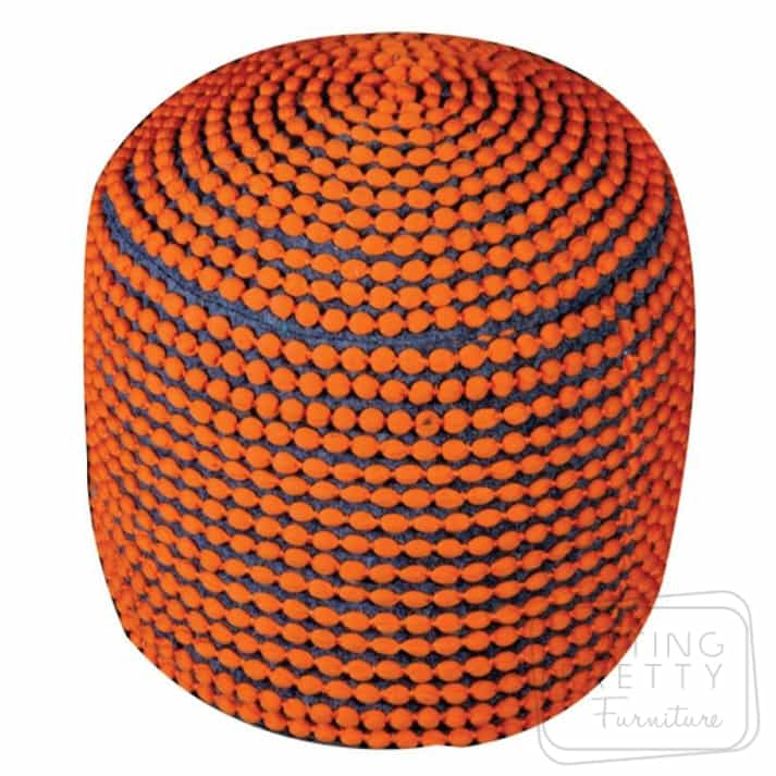 Rococco Pouffe – Orange