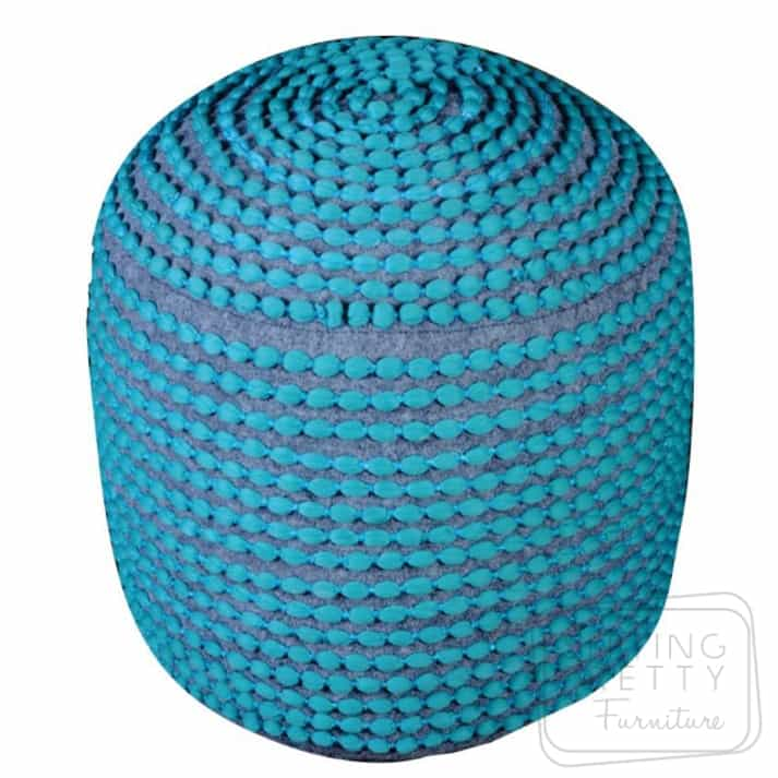 Rococco Pouffe – Turquoise
