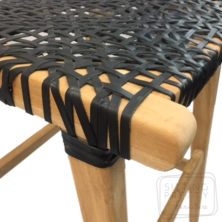 Marvelous Horn Stool Teak Leather Gmtry Best Dining Table And Chair Ideas Images Gmtryco