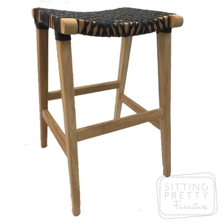 Awesome Horn Stool Teak Leather Inzonedesignstudio Interior Chair Design Inzonedesignstudiocom