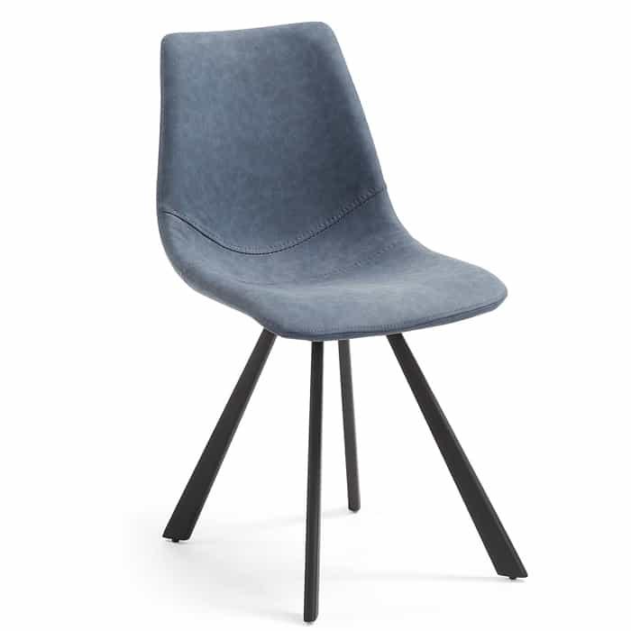 Andi Chair – Cornflour Blue Brushed PU by LaForma