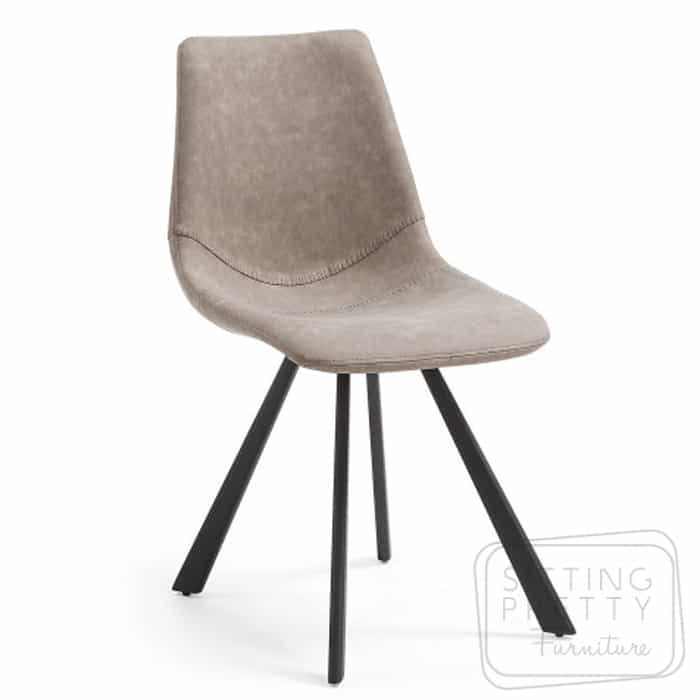 Andi Chair – Taupe Brushed PU by LaForma