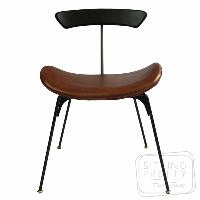 Hopper Chair – Copper Brown PU Seat