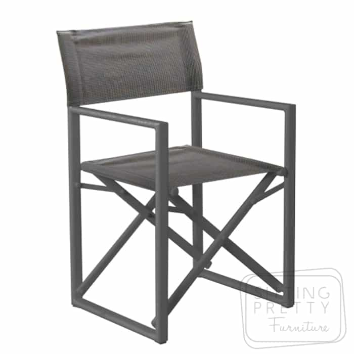 Matzo Charcoal Directors Chair