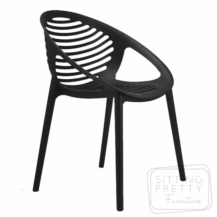 Coogee Stackable Chair – Black
