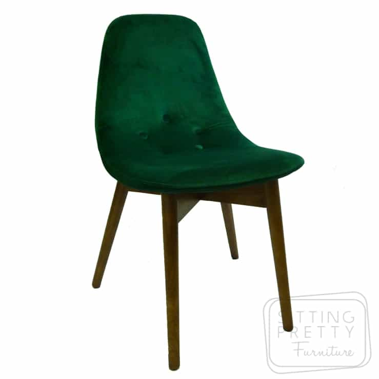 Astonishing Replica Featherston Contour Chair Emerald Velvet Almost Gone Machost Co Dining Chair Design Ideas Machostcouk