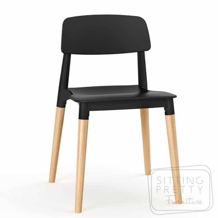 Herman Chair – Black (Stackable) – SIX LEFT
