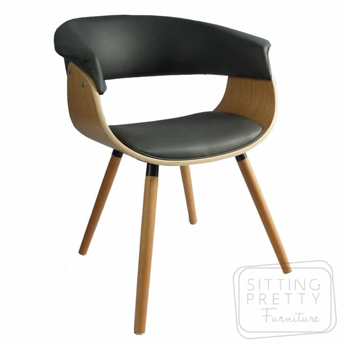 James Chair Oak/Grey PU