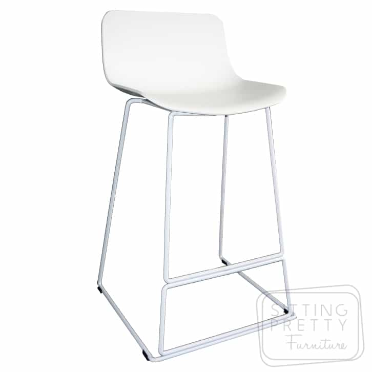 Luxe Counter Stool 67cm – All White