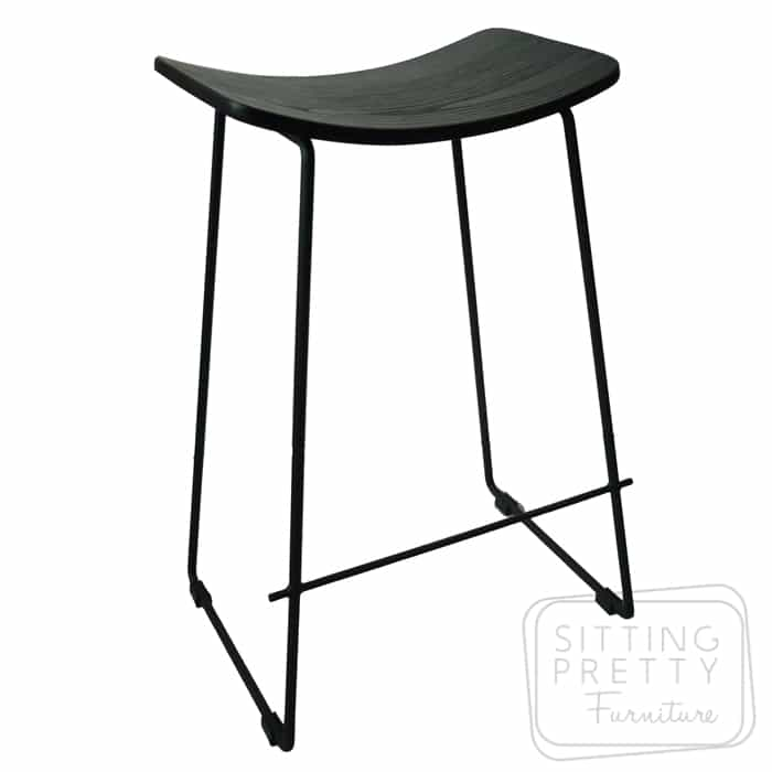 Replica Potter Counter Stool – Black plywood seat
