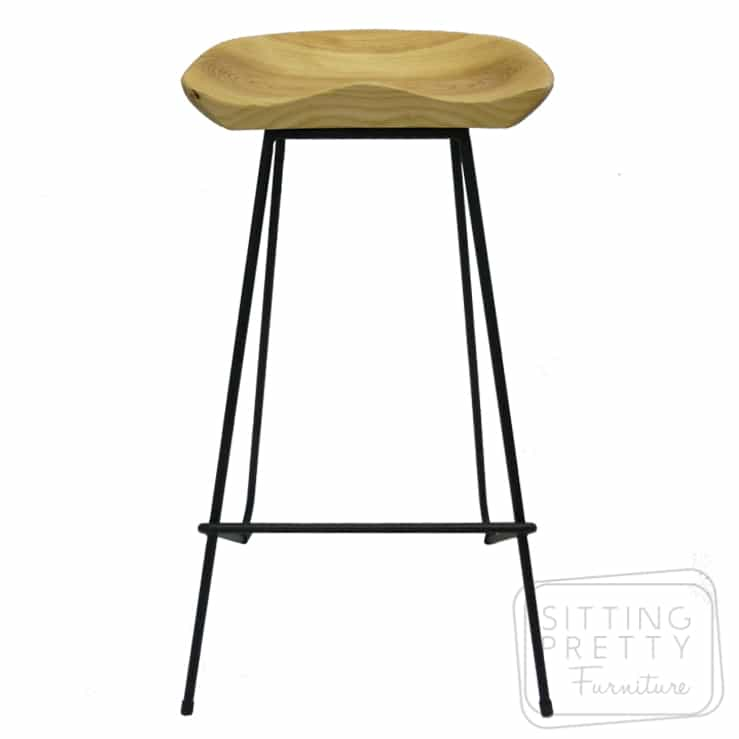 Tractor Wire Stool – Ash/Black