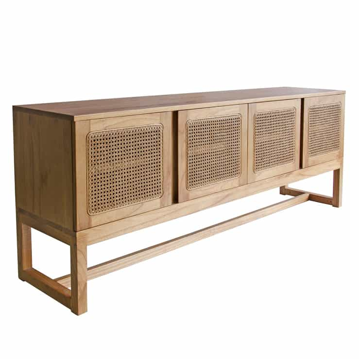 Jordan Cedar & Rattan Buffet – Natural Finish
