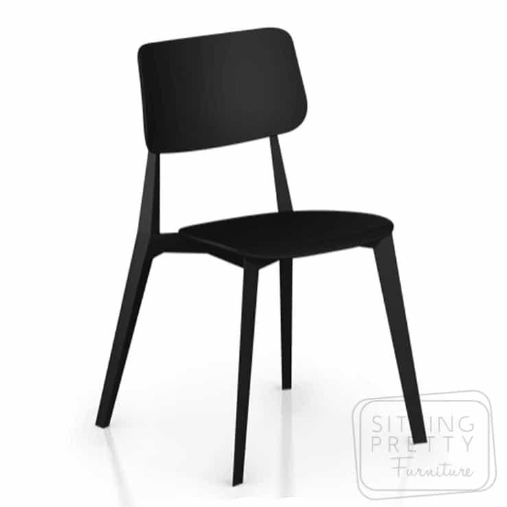 Stellar Stackable Chair – Black