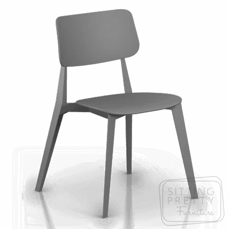 Stellar Stackable Chair – Anthracite