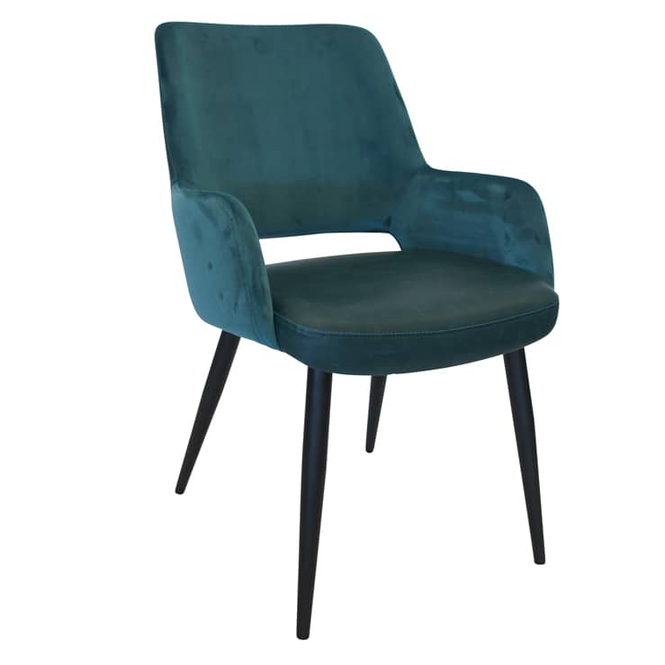 Chelsea Chair – Teal Velvet – ONE LEFT