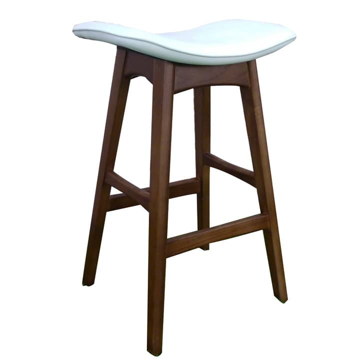 Replica Johannes Andersen Allegra Stool – Walnut/White