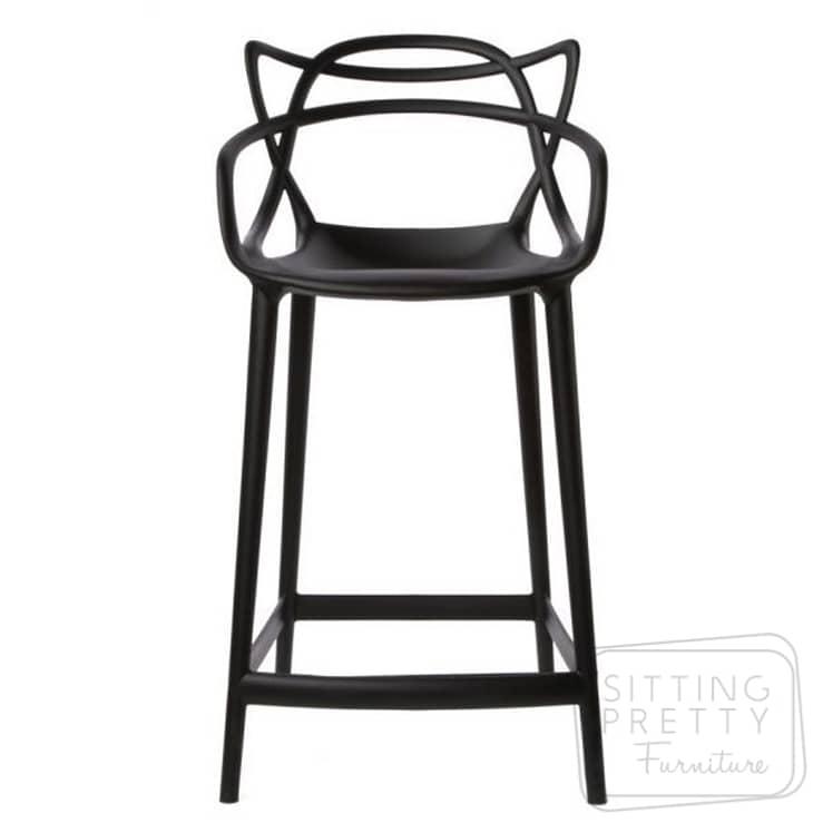 Replica Philippe Starck Masters Counter Stool – Black 65cm