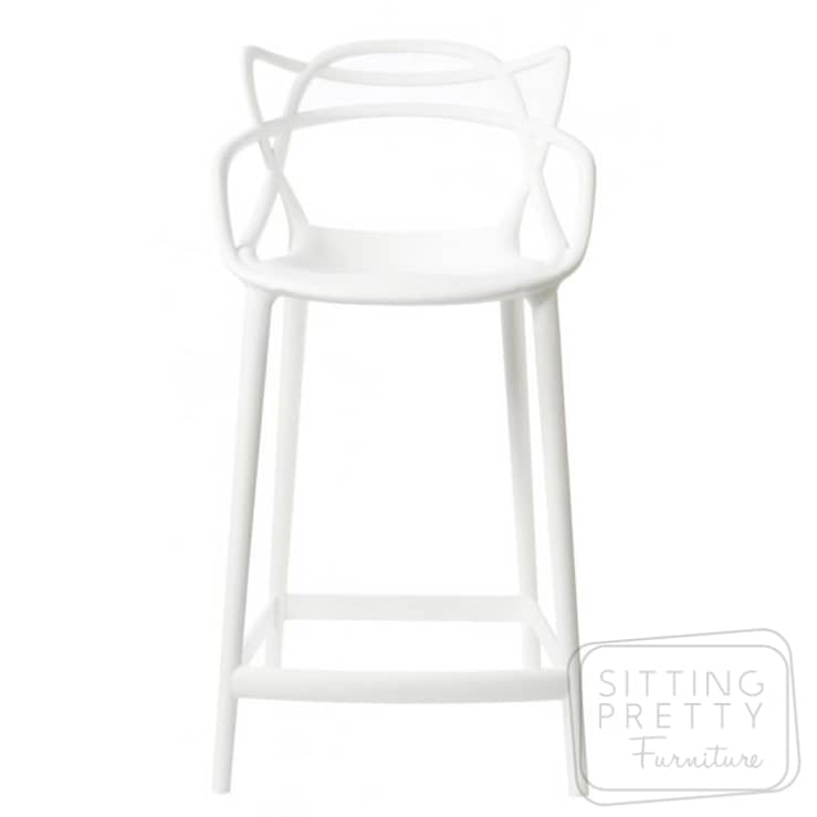 Replica Philippe Starck Masters Counter Stool – White 65cm – DUE MID SEP