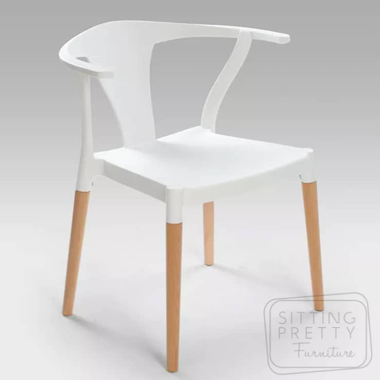 Plastic Stackable Wishbone Chair – White