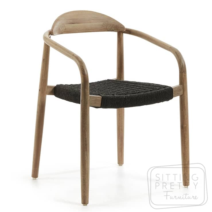 Glynis Chair – Charcoal Rope Seat by LaForma – DUE EARLY JAN
