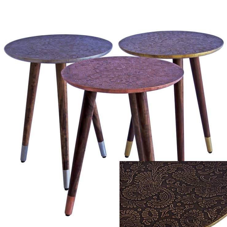 Jade Side tables – Gold or Copper