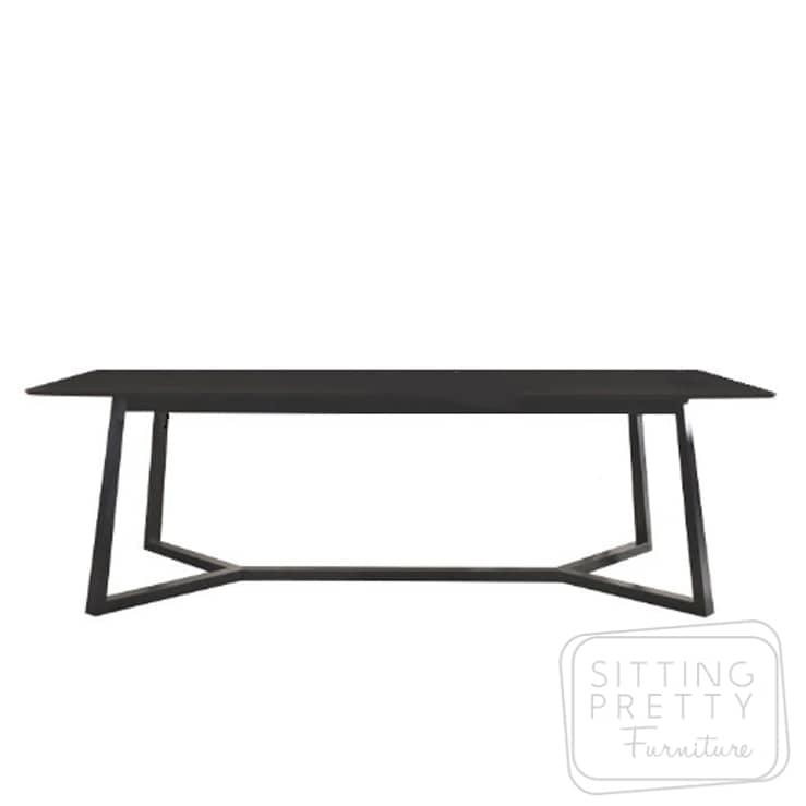 Riva Dining Table – All Black – 240cm