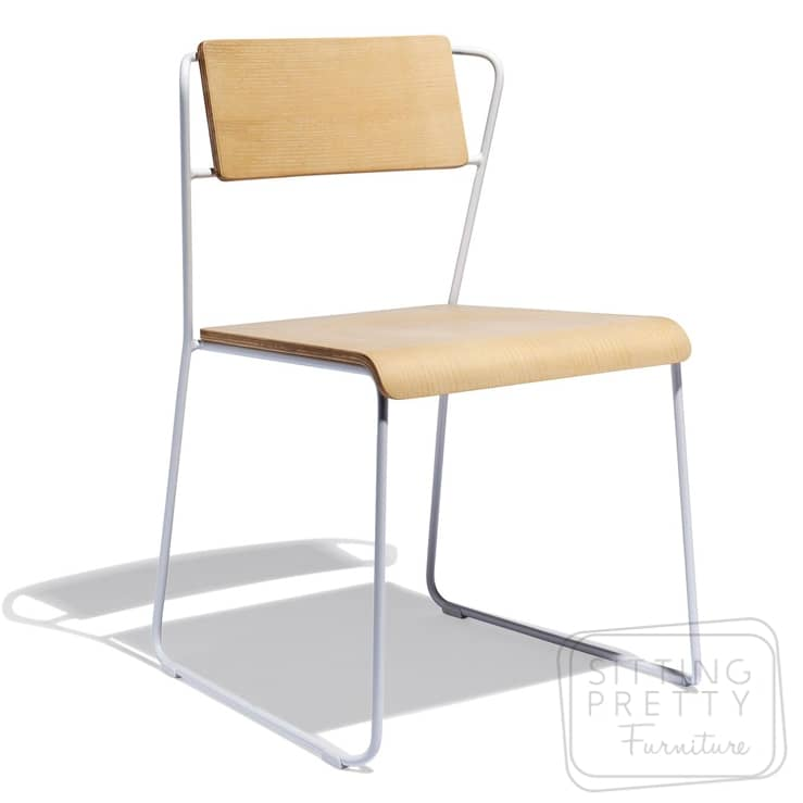 Space Stackable Chair – Oak/White