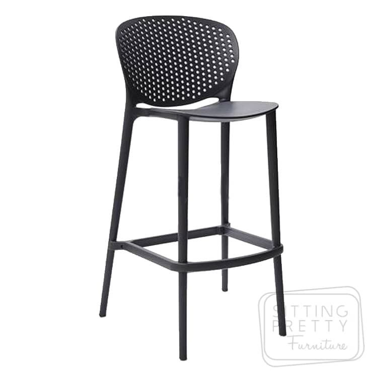 Jamal Franco Stool – Anthracite – 75cm