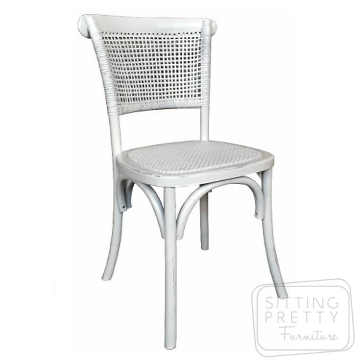 Paris Rattan Chair – White