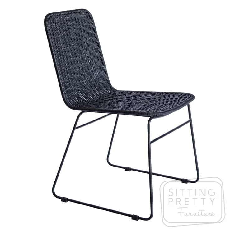 Park Rattan Chair – Black