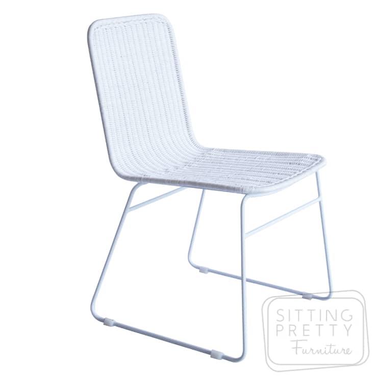 Park Rattan Chair – White