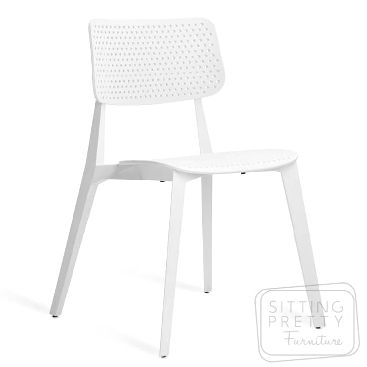 Stellar Stackable Chair – White with Holes
