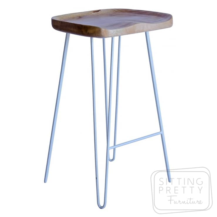 Tractor Hairpin Stool – White Legs