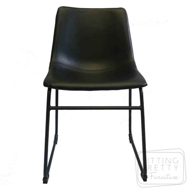 Frankie Chair – Black PU- ALMOST GONE