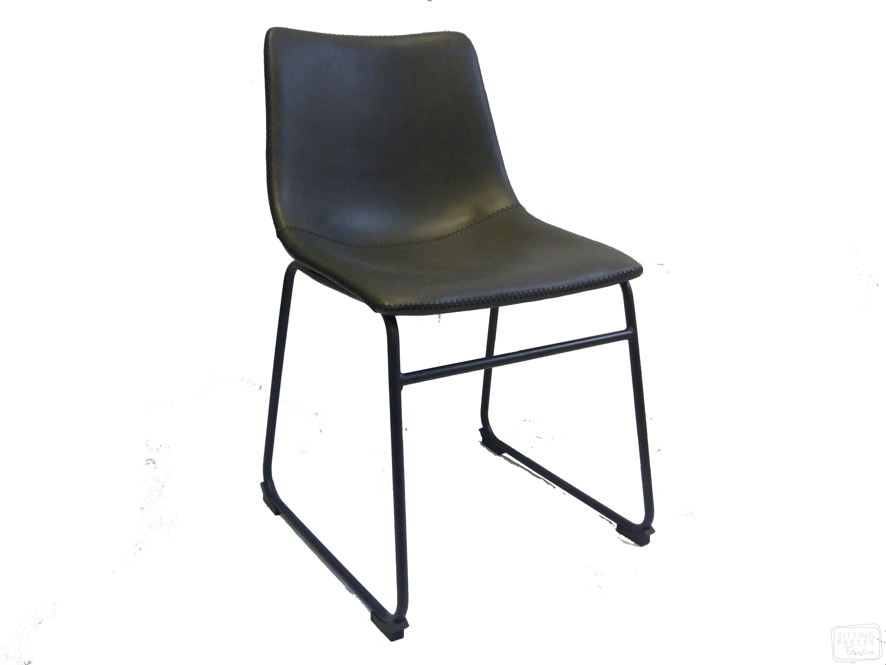 Frankie Chair – Charcoal PU