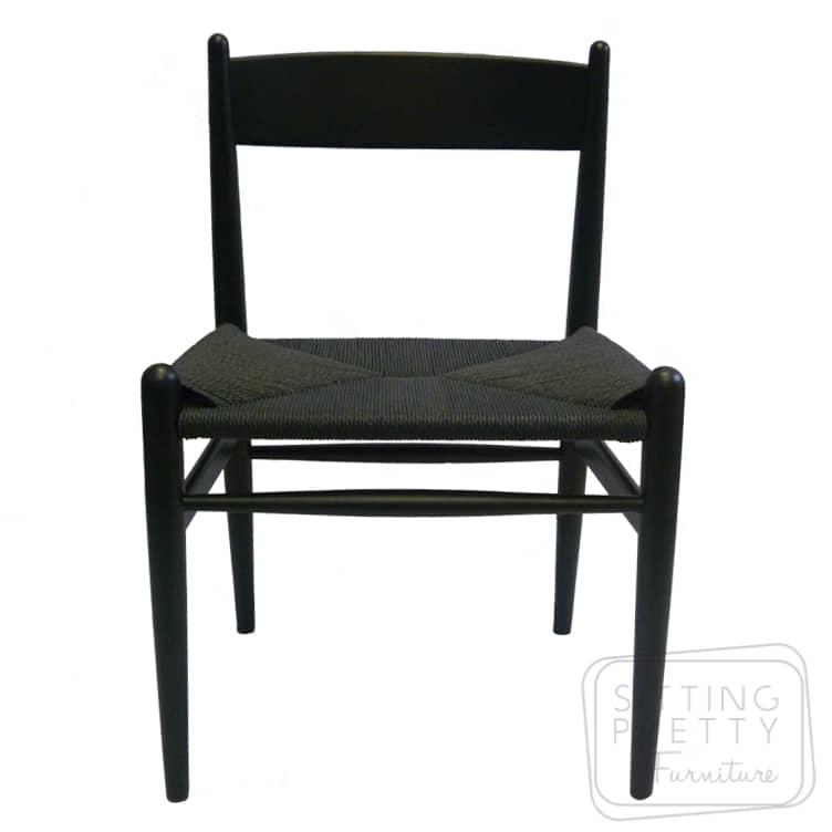 Highback Wishbone Chair – Black