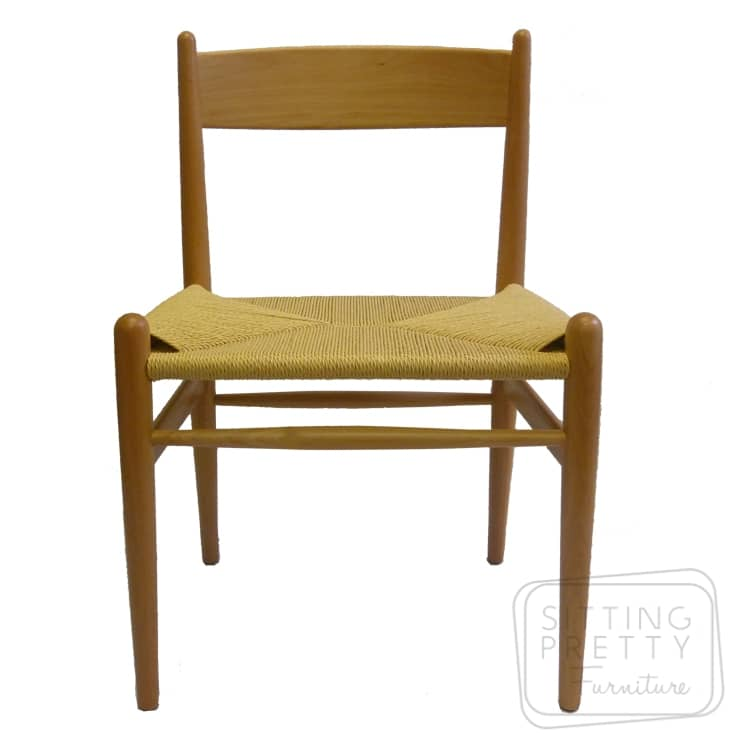 Highback Wishbone Chair – Natural
