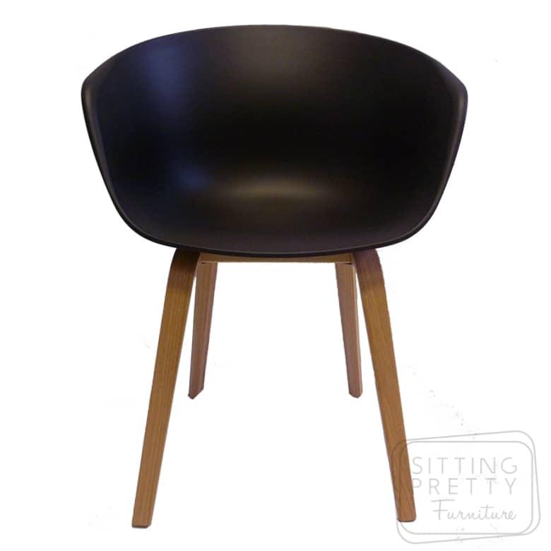 Orbit Chair – Black with Ash Legs