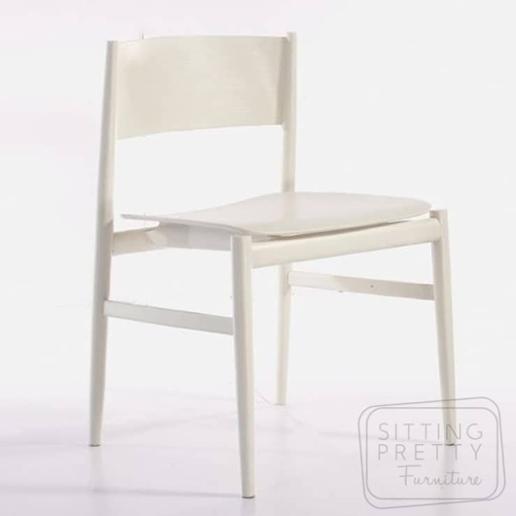Slice Plywood Chair – White