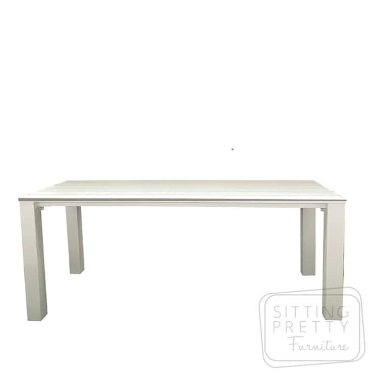 Big Boy Aluminium Table – Matte White – 240cm