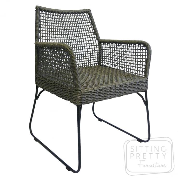 Palermo Rope Arm Chair – Marle Grey